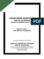 Peraturan Akademik Smp Al 2014 2015