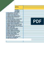 Lista de Cotejo Mat