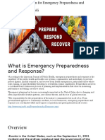 Informatic Solutions for Emergency Preparedness and Response