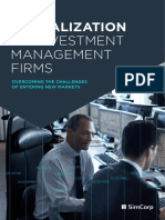 Globalization of Investment Management Firms SimCorp White Paper