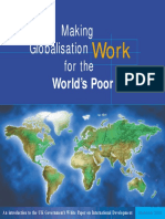 Making Globalisation Work 4 World Poor by Dept for International Development(DFID)