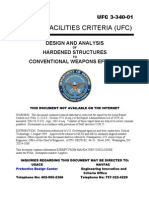 ufc 3-340-01 design and analysis of hardened structures to conventional weapons effects (fouo)