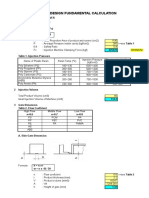 Pre-mould Design Calculation