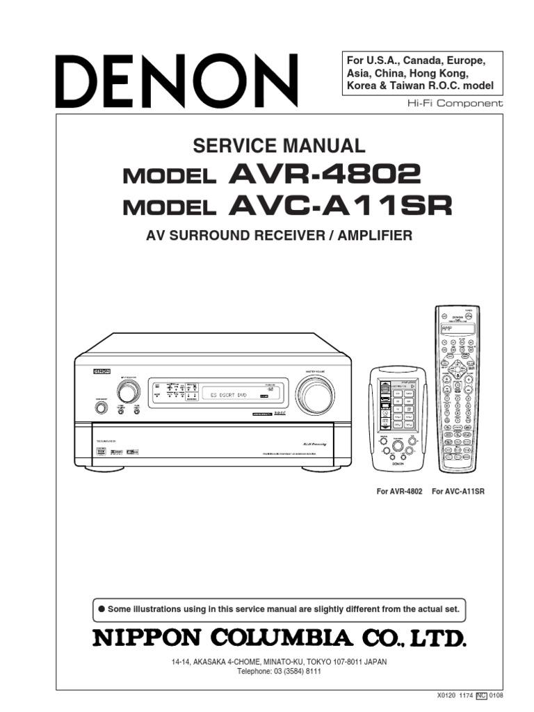 denon avr 4802 avc a11sr pdf decibel amplifier rh scribd com denon avr 4802 service manual Denon AVR 4802R
