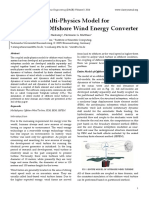 A Coupled Multi-Physics Model for Dynamics of Offshore Wind Energy Converter