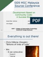 Development Based On Community Code