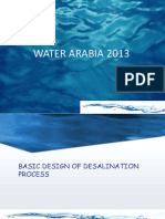 Basic Design of Desalination Process (Water Arabia 2013)