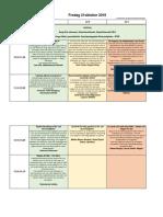 Föreläsningsschema fre 21 oktober 2016