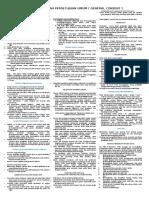 Tata Tertib Dan Persetujuan Umum ( General Consent )