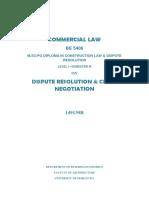 Assignment Dispute Resolution Fianl