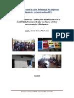Rakotomalala, Bodo, Etude de cas dans le cadre de la revue des dépenses publiques des secteurs sociaux 2014, Antananarivo