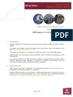 CRM Aspects in Accidents and Incidents