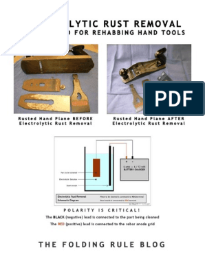 REMOVER FERRUGEM POR ELETRÓLISE pdf | Sodium Hydroxide | Rust