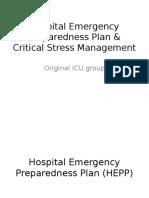 Hospital Emergency Preparedness Plan & Critical Stress Management (PPT)