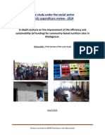 RAKOTOMALALA, Bodo, Case study under the social sector public expenditure review – 2014, Antananarivo