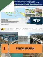 Keterpaduan Rencana Dan Kesinkronan Infrastruktur TA 2017