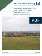 Public Open Space (LOS 16/MOS K), Tadpole Lane, Priory Vale, Swindon, Wiltshire
