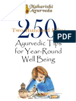 250 Ayurveda Tips for Year-long Well Being