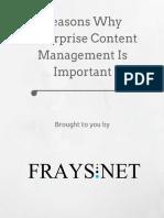 Reasons Why Enterprise Content Management Is Important.pdf