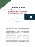 Ruy Mauro Marini - Crisis, Cambio Técnico y Perspectivas Del Empleo