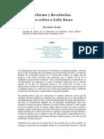Ruy Mauro Marini - Reforma y Revolución - Una Crítica a Lelio Basso