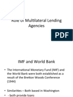 Role of Multilateral Lending Agencies