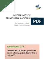 MECANISMOS de Termorregulacion