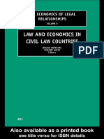 DEFFAINS_KIRAT_Law and Economics in Civil Law Countries