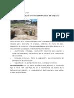 Proceso Constructivo y Planos de Una Vivienda