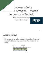 08 PIC16F877A Arreglos + Matriz de puntos + Teclado