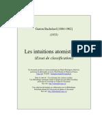 G. Bachelard, Les Intuitions Atomistiques, 1933.