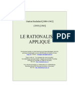 G. Bachelard, La Rationalisme Appliqué