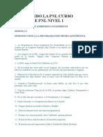 Modulo 1 - Dominando La Pnl Curso Básico de Pnl Nivel 1