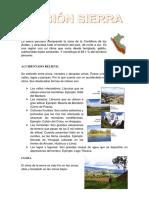 La Sierra Peruana Comprende La Zona de La Cordillera de Los Andes