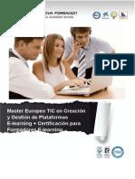 Master Europeo TIC en Creación y Gestión de Plataformas E-learning + Certificación para Formadores E-learning