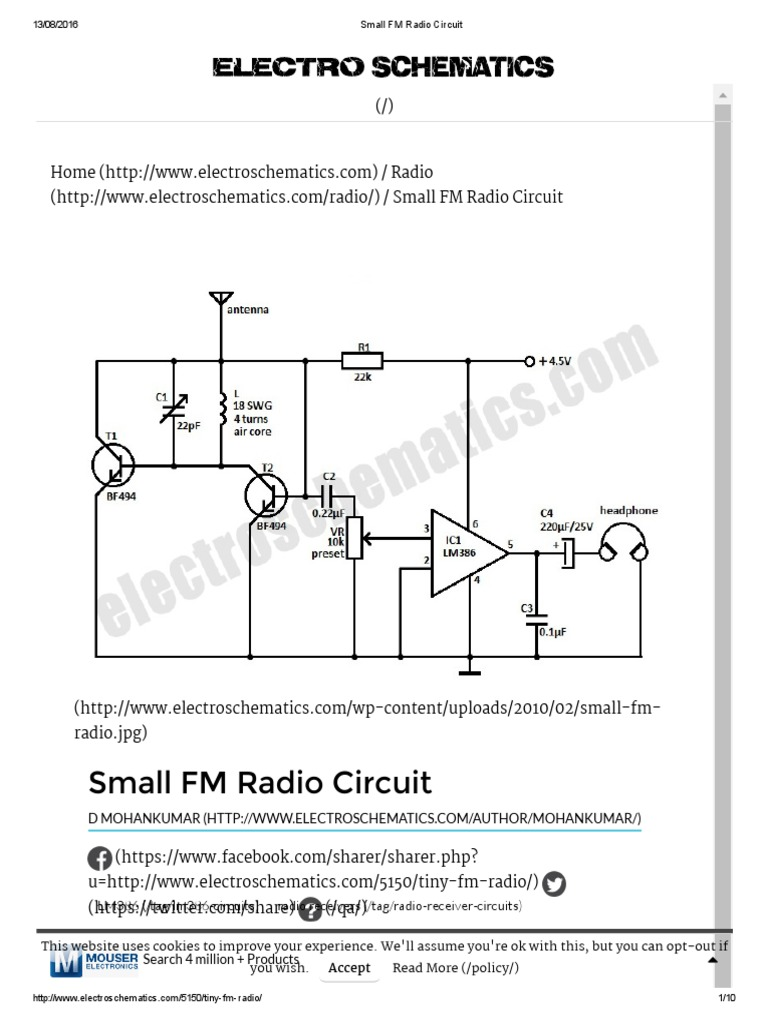 Small Fm Radio Circuitpdf Electronic Circuits Frequency Modulation