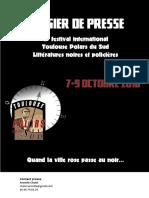 Dossier Presse Toulouse Polars Du Sud 2016