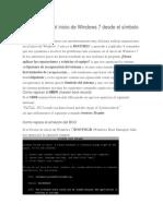 Como Reparar El Inicio de Windows 7 Desde El Símbolo Del Sistema