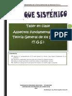 TALLER Aspectos Fundamentales de La Teoría General de Los Sistemas (T.G.S.)