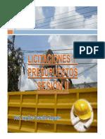 """Sii.2014.Licitaciones y Presupuestos.sesiã""""n II"""
