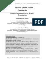 Dialnet-ComunicacionYRedesSocialesPresentacion-5149088