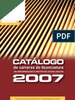 Catalogo Anuies 2007