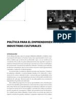 13 Politica Emprendimiento Industrias Culturales