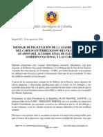 Felicitación del Cabildo Interreligioso de Colombia a Gobierno Nacional y FARC por Acuerdo Final de Paz