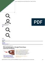 Dica Simples Para o Google Fotos Limpa Memória Do iPhone _ Dicas e Tutoriais _ TechTudo