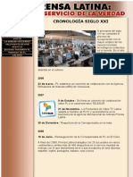 Prensa Latina - Cronologia Años 2000