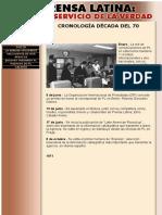 Prensa Latina - Cronologia Años 70
