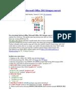Aktivasi Offline Microsoft Office 2013 Dengan Convert