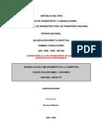 Rehabilitacion y Mejoramiento de La Carretera Paucartambo