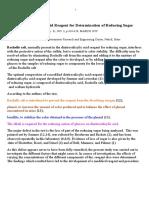 Use of Dinitrosalicylic Acid Reagent for Determination of Reducing Sugar